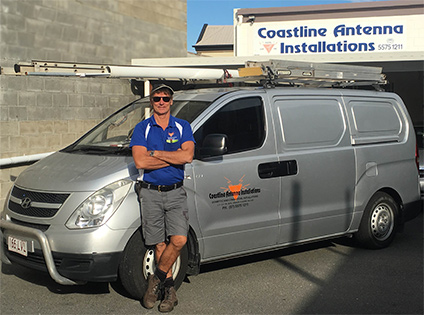 Coastline Antenna Installations proprietor Ross Hassum